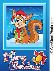 Christmas theme greeting card 8