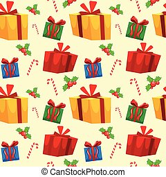 Christmas theme seamless wallpaper