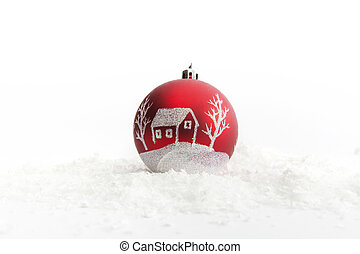 Christmas theme with blank paper on wooden planks. Decorations over Wood. Vintage