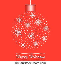Christmas themed ball holidays card