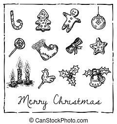 christmas-themed, set, communie