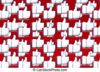 Christmas Thumbs up Like Icon
