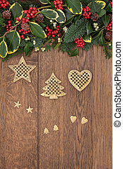 Christmas Time - Christmas background border with gold ...