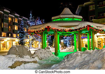 Christmas Time - Christmas night decoration in town