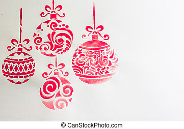 Christmas time decorations - Water color Christmas ball as a...