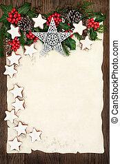 Christmas Time - Christmas background border with...