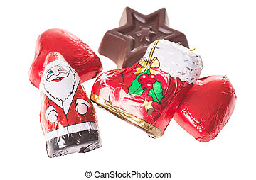 Christmas Time - Sweets for Christmas isolated over a white ...