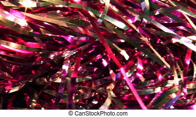 christmas tinsel loop - loopable background of motion...