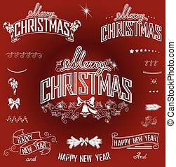 Christmas titles and design element