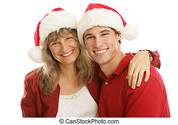 Christmas Together Mom and Son