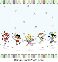 christmas toon card to be used for christmas card