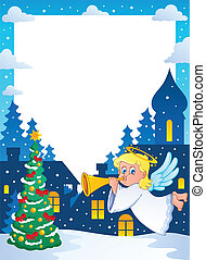 Christmas topic frame 2 - vector illustration.