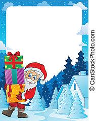 Christmas topic frame 5 - eps10 vector illustration.