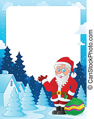 Christmas topic frame 6