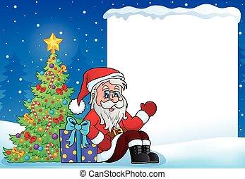 Christmas topic frame 8