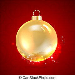 Christmas toy. - Christmas toy isolated on red. Vector...