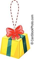 Christmas toy gift icon, cartoon style