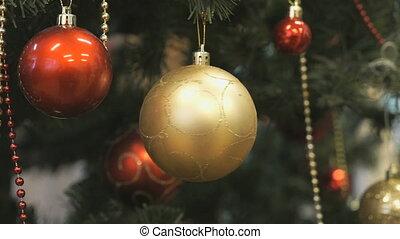 Christmas toy glass balls hanging Christmas tree - Christmas...
