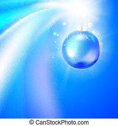 Christmas toy isolated on shiny background. Vector...
