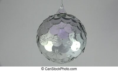 Christmas Toy. Shiny mirror ball.