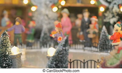 Christmas toy souvenir - ice rink - Close-up - miniature...