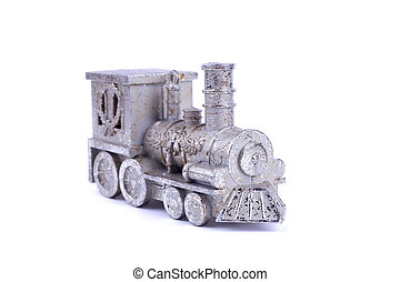 Christmas toy train isolate