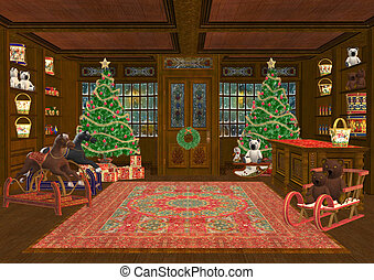 Christmas Toys - 3D digital render of a beautiful Christmas...