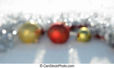 Christmas toys blur background