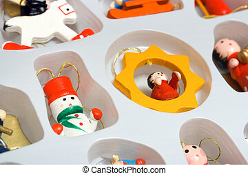 Christmas toys in box