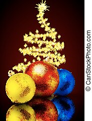 Christmas toys in the background abstract tree