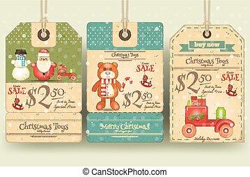 Christmas Toys Sale Tags