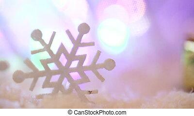 Christmas toys snowflakes