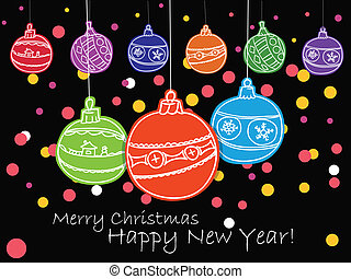 Christmas toys - Vector illustration