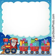 Christmas train theme image 6 - eps10 vector illustration.