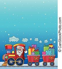 Christmas train theme image 8