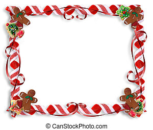 Christmas Treat Border - Image and illustration composition...