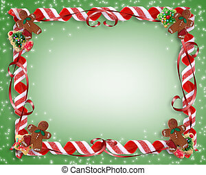 Image and illustration composition for Christmas Holiday background, border or frame with copy space