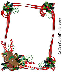 Image and Illustration composition for Christmas holiday background, invitation or card with copy space
