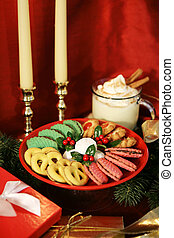 Christmas Treats Vertical - A tray of colorful Christmas...