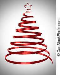 Christmas tree abstract design 3d rendered
