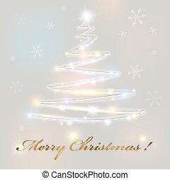 christmas tree. abstract vector illustration