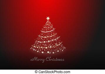 Christmas tree alone