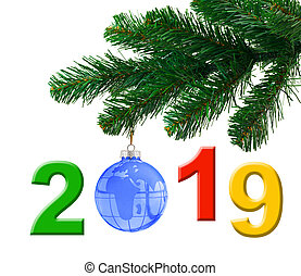 Christmas tree and 2019