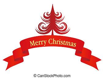 christmas tree and banner