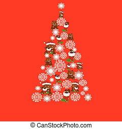 Christmas Tree and Bears.