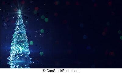 christmas tree and blinking stars seamless loop