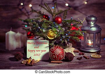 Christmas tree and Christmas decorationsc