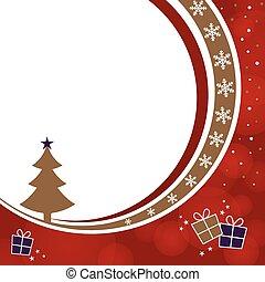 Christmas tree and gift boxes