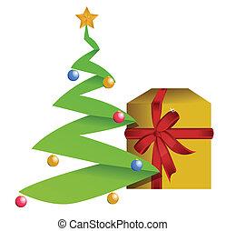 Christmas Tree and Gift