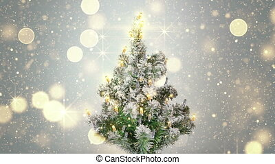 christmas tree and gold sparkles